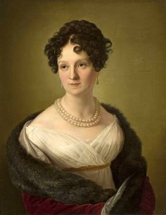 """Portrait of Zofia Potocka (nee Branicka; Polish noblewoman,1790-1879)"" by  Maröhn Ferdinand (fl. 1820-1830), oil on canvas, 69 x 54,5, National Museum, Warsaw."