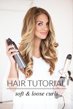 This chick looks a little southern belle for me, but could use a curling iron tutorial since I still suck at using my flat iron...  Beauty Talk | Loose Curls | The Teacher Diva | Bloglovin