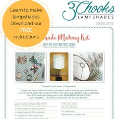 Get your free lampshade making instructions and start making your own lampshades from scratch You Got This, Let It Be, Email Form, Make Your Own, How To Make, Lampshades, Step By Step Instructions, Learning, Fabric