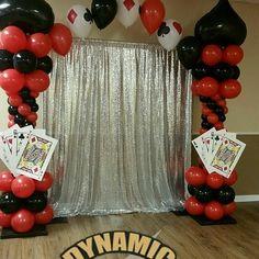 #houstonballoondecorating #casinopartytheme  #casinoparties  #casinotables