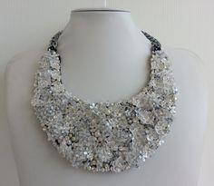 Strass necklace, Statement necklace, Stunning necklace, Awesome necklace, Collar necklace with rhinestone and Swarovski strass IV153 by IvMiro on Etsy