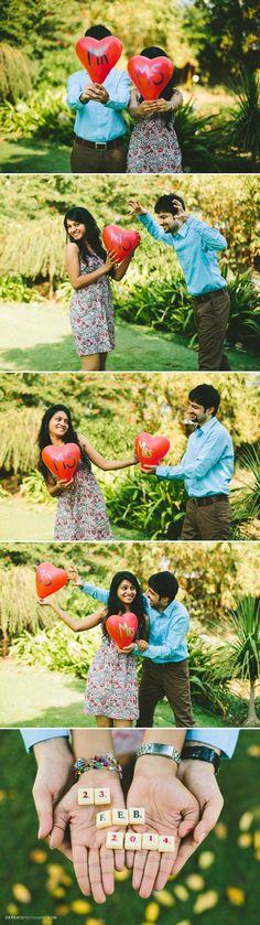 Cute couple picture for save the date | Pre Wedding shoot | Props | Balloons | Proposal | DKreate Photography