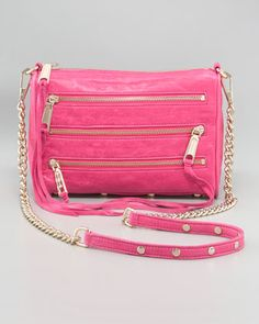 Mini MAC Bag, Pink by Rebecca Minkoff at Neiman Marcus.
