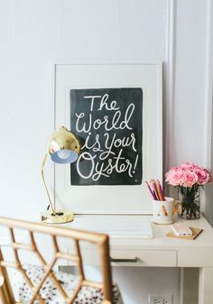 Simple and cute desk decor!