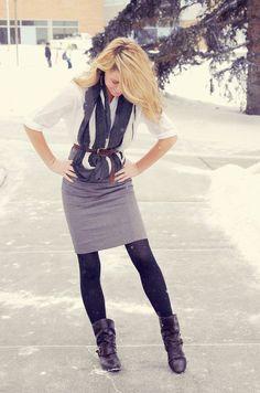 Winter business wear