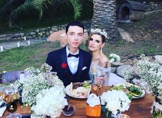 """One week into our marriage today! I'm the happiest woman on earth☺️ Love you husband"" - Juliet Simms Andy Biersack & Juliet Simms Biersack Wedding"