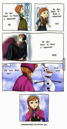 Elsa, that's real cruel!