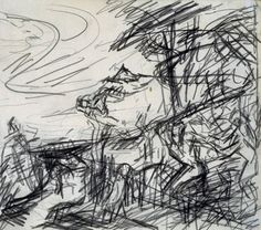Frank Auerbach (born 1931)  Title  Sketch from Titian's 'Bacchus and Ariadne'  Date  1970-71  Medium  Pencil on paper  Dimensions  unconfirmed: 299 x 270 mm  Collection  Tate