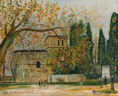 Eglise de Vaux-sur-Mer (Charente-Infrieure), Maurice Utrillo. (1883 - 1955)