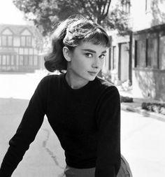 Audrey Hepburn. Young. With bang.