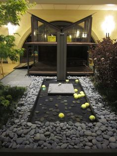 a little over the top but Girr would love this- note the tennis balls in the water feature......too funny
