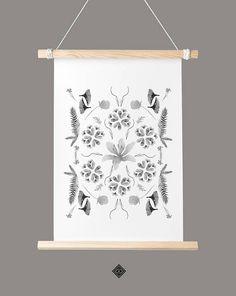 #watercolor #botanical #floral #collage #printable #artprint #digitalprint #digitalart #instantdownload #wallart #walldecor #boho #bohemian #littlegoldpixel