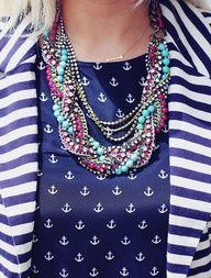 Bamboleo necklace with nautical stripes = love!