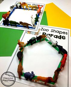 Looking for fun Preschool Zoo Theme Activities for kids? Check out these 16 Hands-On Preschool Zoo inspired Learning Activities and Crafts for Preschool or Kindergarten. Zoo Activities Preschool, Preschool Jungle, Preschool Art Projects, Preschool Activities, Preschool Shapes, Jungle Theme Activities, Preschool Printables, Preschool Learning, Lesson Plans For Toddlers