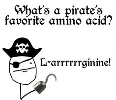 LOL! Repin if you love this pun as much as a #pirate loves #LArginine! :-)