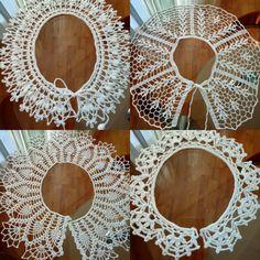Crochet Lace Collar, Crochet Earrings, Jewelry, Fashion, Moda, Crochet Collar, Jewlery, Jewerly, Fashion Styles