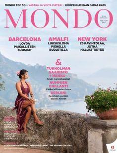 Mondo 6-7/2015   Mondo.fi Amalfi, Magazines, Barcelona, New York, Cover, Books, Movie Posters, The Moon, Journals
