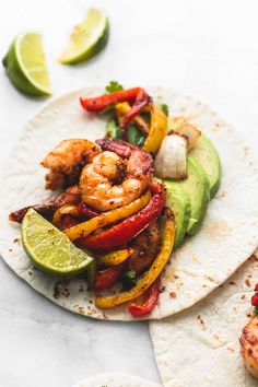 Sheet pan chili lime shrimp fajitas make an easy, healthy, and delicious one pan 20 minute meal with tons of flavor the whole family will love.