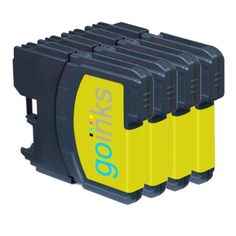 4 Yellow Compatible Brother / Printer Ink Cartridges for Brother DCP-145C DCP-163C DCP-165C DCP-167C DCP-195C DCP-197C DCP-365CN DCP-373CW DCP-375CW DCP-377CW / MFC-250C MFC-255CW MFC-290C MFC-295CN MFC-297C MFC-490CN MFC-490CW MFC-5490CN MFC-5890CN MFC-6490CN MFC-670CD MFC-670CDW MFC-790CW MFC-930CDN MFC-930CDWN MFC-990CW LC980Y LC1100Y - High quality compatible brand to replace Brother LC980 / LC1100 / LC61 printer ink cartridges. Designed to be an exact replacement, with m