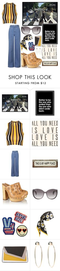 """""""🎶Come Together🎶"""" by anexushill ❤ liked on Polyvore featuring Americanflat, Topshop, Sugarboo Designs, Poncho & Goldstein, Michael Kors, Christian Dior, Marc Jacobs, âme moi and Bebe"""