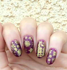 Midnight Stamper: Simple holiday party nails featuring MoYou London ...