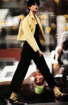 Eddy Kohli for American Vogue, November 1984. Fashion by Geoffrey Beene.