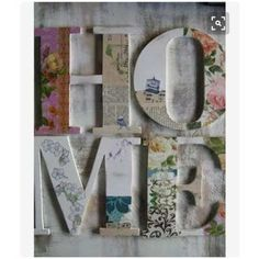Letras De Madera Candy Bar  Love Home Pintadas Decoupage - $ 400,00 en Mercado Libre