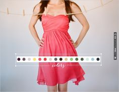 tons of colors to choose for your bridesmaids from Little Borrowed Dress | CHECK OUT MORE IDEAS AT WEDDINGPINS.NET | #bridesmaids