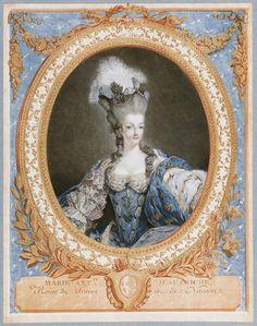 Marie Antoinett by Janinet 1777.