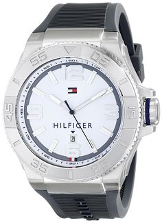 Tommy Hilfiger Men's 1791035 Analog Display Quartz Gray Watch -- Read more reviews of the watch by visiting the link on the image.