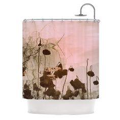 "Marianna Tankelevich ""Lotus Dream"" Flower Pink Shower Curtain | KESS InHouse"
