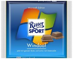 RITTER SPORT Fake Schokolade Sorte Windoof