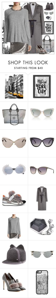 """""""New York  Working Girl"""" by yours-styling-best-friend ❤ liked on Polyvore featuring Americanflat, Chanel, Dita, Christian Dior, Tom Ford, Linda Farrow, Pierre Hardy, J.Crew, Stephen Webster and Maison Michel"""