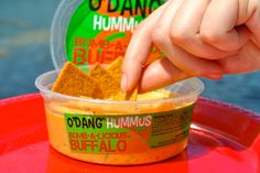 Need some buffalo in your life? Add some bomb-a-licious buffalo hummus to literally anything.... You won't be disappointed. #buffalo #odang #hummus