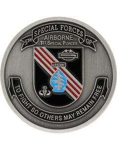 5th Speical Forces Vietnam, Pewter with Enamel Coin