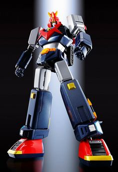 Bandai Choudenji Machine Voltes V F.: Tamashii Nations Soul of Chogokin Die-Cast Action Figure - Toys Old Cartoon Movies, Super Robot Taisen, Big Robots, Japanese Robot, Metal Robot, Vintage Robots, Statues, Mecha Anime, Childhood Toys