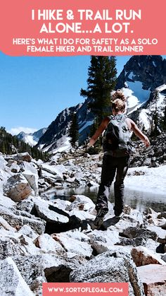 In the past year, I've easily done over 75 trail runs and hikes alone.as a female. I'm not particularly brave either. Here's what I do to stay safe. Solo Travel, Travel Plan, Travel Tips, Appalachian Trail, Pct Trail, Adventure Activities, City Limits, Day Hike, Trail Running