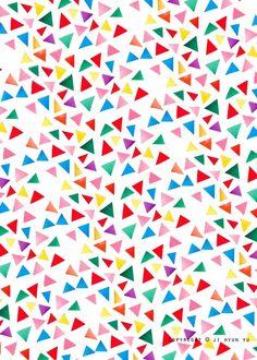 三角形の紙吹雪