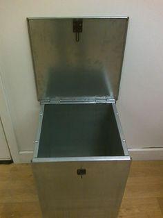 Galvanized feed bin