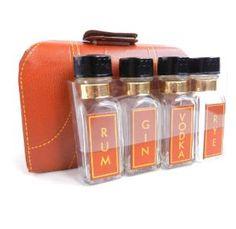 Mini Liquor Carrying Case  1950s Alcohol Bottle by MaejeanVINTAGE