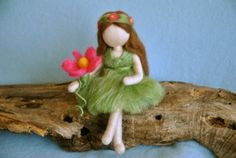 Waldorf inspired needle felted Fairy