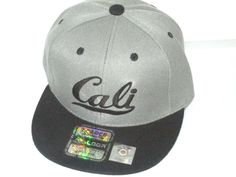 "NEW KID CHIL BOY GIRL EMBROIDERED FLAT BILL SNAPBACK ""CALI""  CAP CHARCOAL/BACK #LOGA #Snapback"