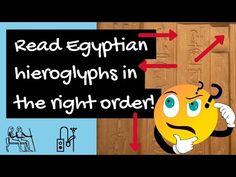 Egyptian Hieroglyphics - how to read hieroglyphs in the right order - YouTube Egyptian Hieroglyphs, Ancient Egypt, Reading, Youtube, Study, Fictional Characters, Art, Art Background, Studio