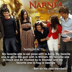 Ben on Anna, Georgie, William, and Skandar Narnia Cast, Narnia 3, Httyd, Narnia Movies, Cair Paravel, William Moseley, Ben Barnes, The Avengers, Chronicles Of Narnia