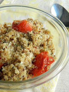 Quinoa with Roasted Tomatoes and Pesto Vinaigrette