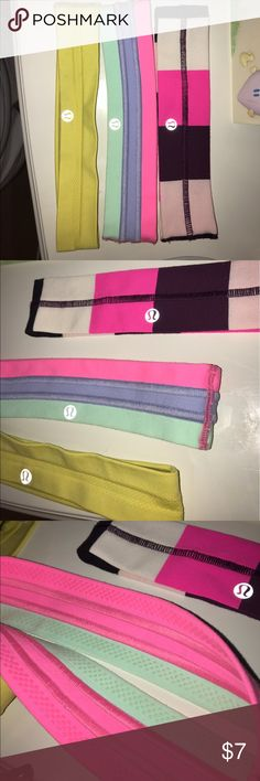 Correct Lululemon Headbands Listing Perfect condition headbands! lululemon athletica Accessories Hair Accessories