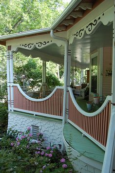 I think I am going to need some type of railing on the front porch, as the steps will be on the sides of the porch.