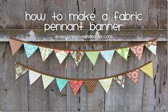 Every Creative Endeavor: Make a Fabric Pennant Banner {Tutorial} @Amanda Jones