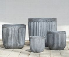 Time to Plan Your Spring Bulbs (and Planters) from Terrain - Gardenista Barrel Planter, Planter Pots, Ikea New, Indoor Planters, Black Planters, Spring Bulbs, Inspired Homes, Garden Pots, Garden Spaces