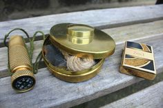 I may have a thing for #brass #bushcraft kit - #bestmadeceo #hudsonbay #zippo